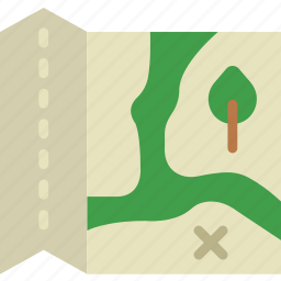 camping, map, outdoor, travel, trip icon