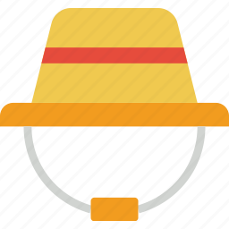 camping, hat, outdoor, travel icon