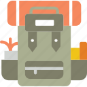 backpack, camping, hiking, outdoor, travel icon