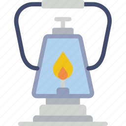 camping, lantern, outdoor, travel icon