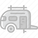 travel, outdoor, camping, trailer icon