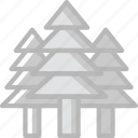 travel, outdoor, camping, trees icon