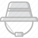 travel, outdoor, hat, camping icon