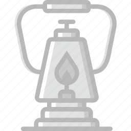 camping, lantern, outdoor, travel icon