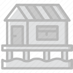 camping, house, lake, outdoor, travel icon