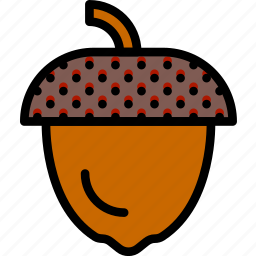 acorn, camping, outdoor, travel icon