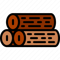 camping, logs, outdoor, travel, wood icon