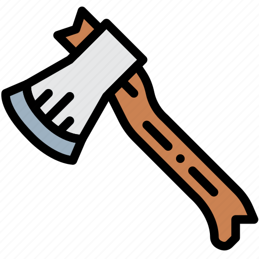 axe, camping, outdoor, travel icon