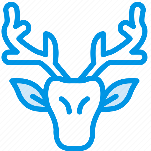 camping, deer, head, outdoor, travel icon