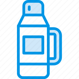 camping, outdoor, thermos, travel icon