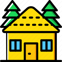 camping, cottage, outdoor, travel icon