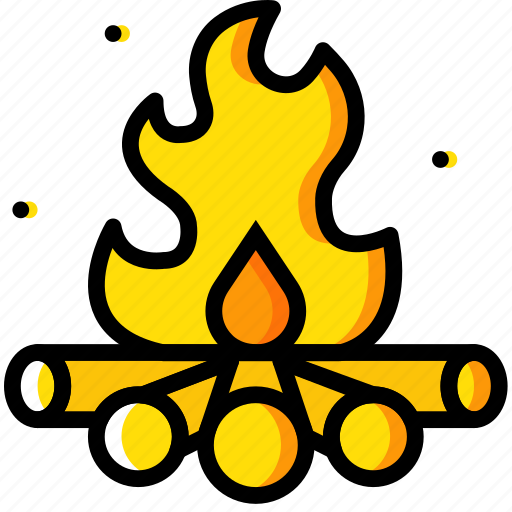 campfire, camping, outdoor, travel icon