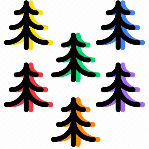 forest, outdoor, pines, wild icon