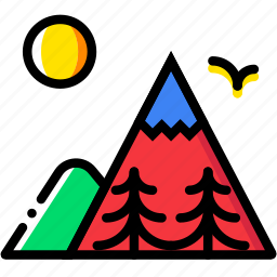 forest, mountainside, outdoor, wild icon