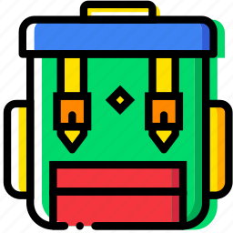 backpack, camping, forest, outdoor, wild icon
