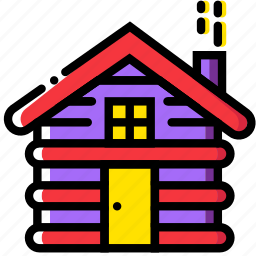 cabin, forest, outdoor, wild icon