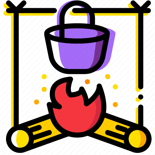 forest, outdoor, stove, wild icon