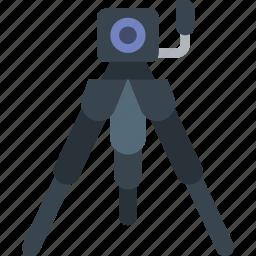 camera, photography, record, tripod, video icon