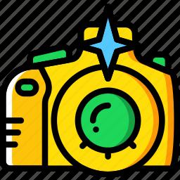 camera, flash, photography, record, video icon