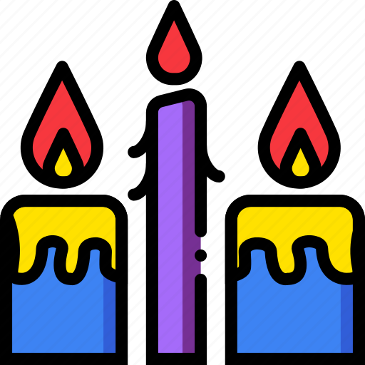 belief, candles, faith, pray, religion icon