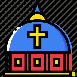 belief, dome, faith, pray, religion, vatican icon