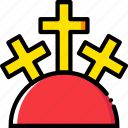 belief, faith, holy, mountain, pray, religion icon