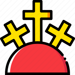 belief, faith, holy, mountain, pray, religion icon