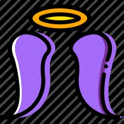 angel, belief, faith, pray, religion icon
