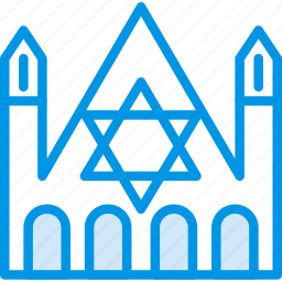 belief, building, church, judaic, religion, worship icon