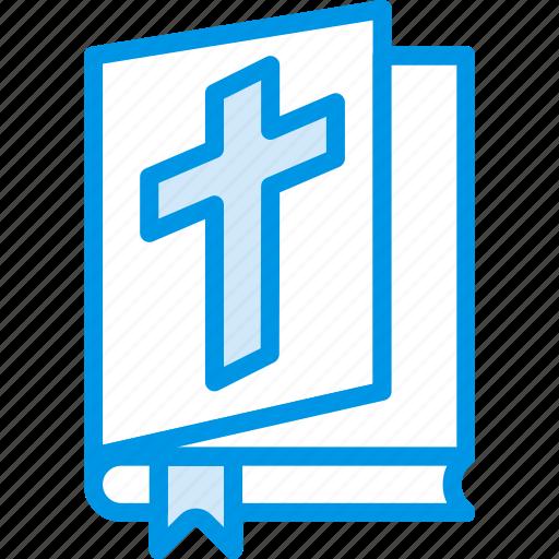 belief, bible, book, cross, religion, worship icon