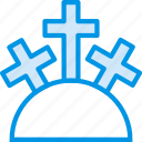belief, cross, holy, mountain, religion, worship icon