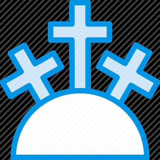 belief, cross, holy, mountain, religion, worship icon