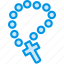 belief, church, religion, rosary, worship icon