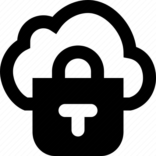 cloud, encrypted, protection, secure, security icon