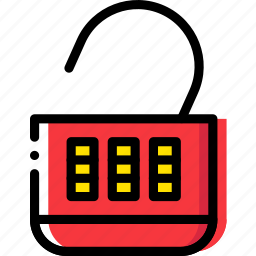 combination, lock, open, safe, safety, security icon