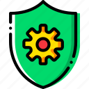 antivirus, safe, safety, security, settings icon
