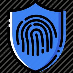 antivirus, encryption, fingerprint, safe, safety, security icon