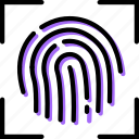 fingerprint, recognition, safe, safety, security icon
