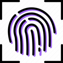 fingerprint, recognition, safe, safety, security icon