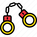 handcuffs, safe, safety, security icon
