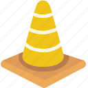 cone, hazard, protection, road, traffic, warning, work icon