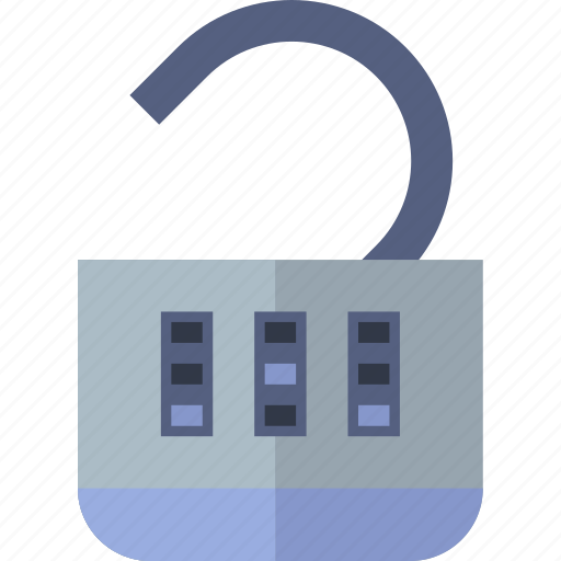 combination, encryption, lock, open, protection, security icon