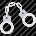 burglar, criminal, handcuffs, police, restrain icon