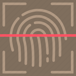 biometric, encryption, fingerprint, protection, recognition, security icon