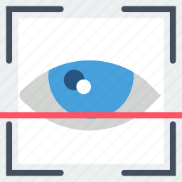 biometric, encryption, protection, recognition, retina, security icon