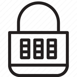 closed, combination, lock, protection, security icon