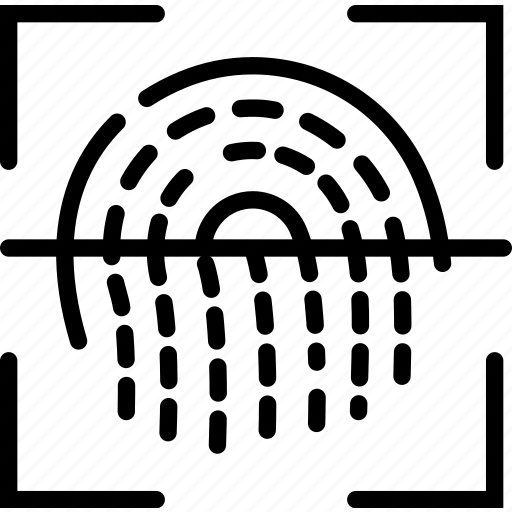 biometric, encryption, fingerprint, protection, scan, security icon