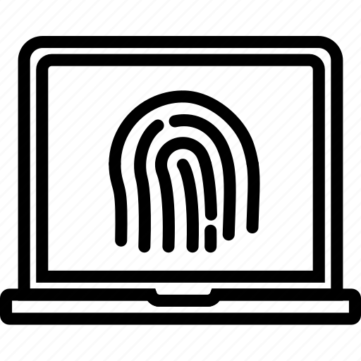 encryption, fingerprint, protection, security icon
