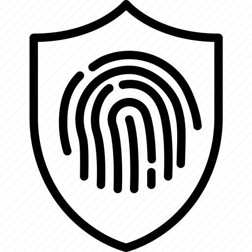 antivirus, code, encryption, fingerprint, protection, security icon