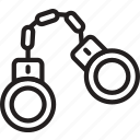 burglar, handcuffs, police, protection, security icon